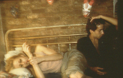 Greer and Robert on the bed, NYC 1983